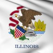 Stock Photo: Illinois flag - USstate flags collection