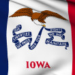 Iowa flag - USA state flags collection - Stock Photo