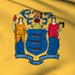 Stock Photo: New Jersey flag - USstate flags collection