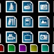 Media and Publishing icons — Stock Vector