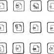 Document and File formats icons - Stock Vector