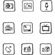 Mediand Publishing icons — Stock Vector #3886986
