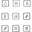 Royalty-Free Stock Vector Image: Healthcare and Pharma icons