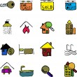 Stock Vector: Real Estate icons