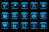 Website en internet pictogrammen — Stockvector
