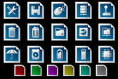Computer and Data icons — Stock Vector