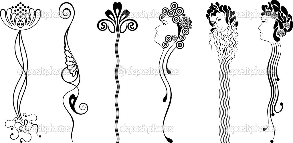 Stock Illustration Ornament Art Nouveau on 3881543