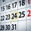 Date on the 24th - Stock Photo