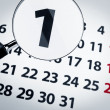 Magnifying glass on a calendar — Stock Photo #3884440