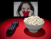 Movies at home — Stock Photo