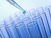 Test tubes and pipette — Stock Photo