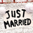 Foto Stock: Just Married Love