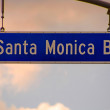 Santa Monica Blvd — Stock Photo