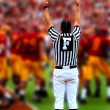 Field judge with hands up in american football — Stock Photo #3846398