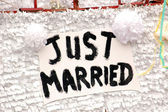 Just Married Love — Zdjęcie stockowe