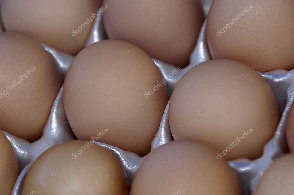 Close up image of a group of Brown organic eggs                                 — Stock Photo #3845840