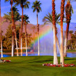 Golf Course Rainbow — Stock Photo