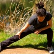 Woman Stretching — Stock Photo #3850852