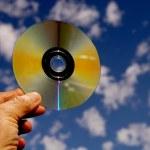 DVD contra el cielo — Foto de Stock