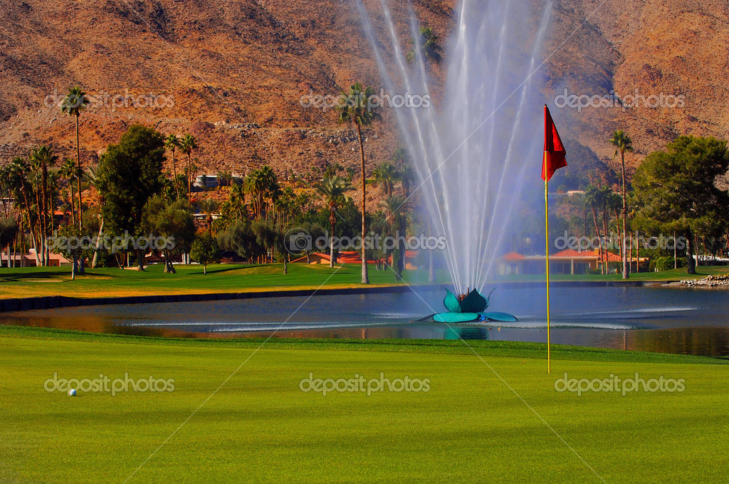 Green Of The 18th Hole — Stock Photo #3850471