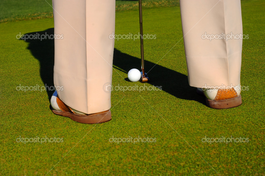 Putting The Ball — Stock Photo #3850481