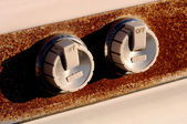 Rusted Oven Knobs — Stock Photo