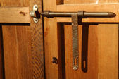 Brass Door Lock — Stock Photo