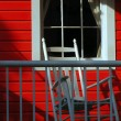 The red Porch — Stock Photo