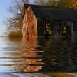 Flooded Iowa Farm — Stock Photo