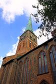 церковь в любеке — Стоковое фото