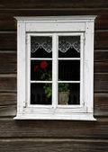 Rural house window — Stock Photo