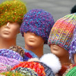 Knitted hats — Stock Photo