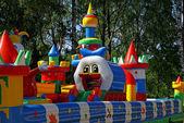 Inflatable child playground — Stock Photo