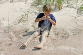 Pouring sand — Stock Photo