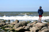 Looking at the sea — Fotografia Stock