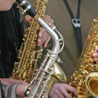 Saxophonists — Stock Photo