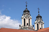 Baroque church towers — Stock Photo
