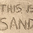 This Is Sand - Foto Stock