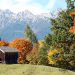 Austrian mountains in autumn — Stock Photo