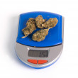 Stock Photo: Cannabis on balance