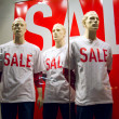 Sale, manikin, window dummy,  display dummies. — Stock Photo