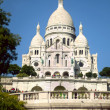 Basilique du Sacre-Coeur, B. d. S. (Basilica of the Sacred Heart) . Paris — Stockfoto