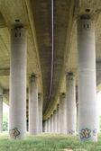 Under Highway in Germany between Giessen and Wetzlar — Stock Photo