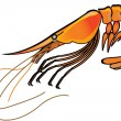 Stock Vector: Shrimp and sehorse.