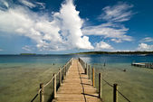 Bora Bora Ferry Pier — Stock Photo