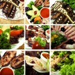 Collection of meat dishes — Stock Photo #3913292