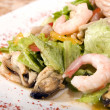 Salad made of seafood - Stock Photo