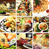 Collection of Asian dishes — Stock Photo
