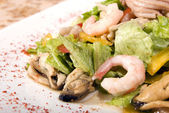 Salad made of seafood — Stock Photo