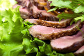 Meat appetizer — Stock Photo